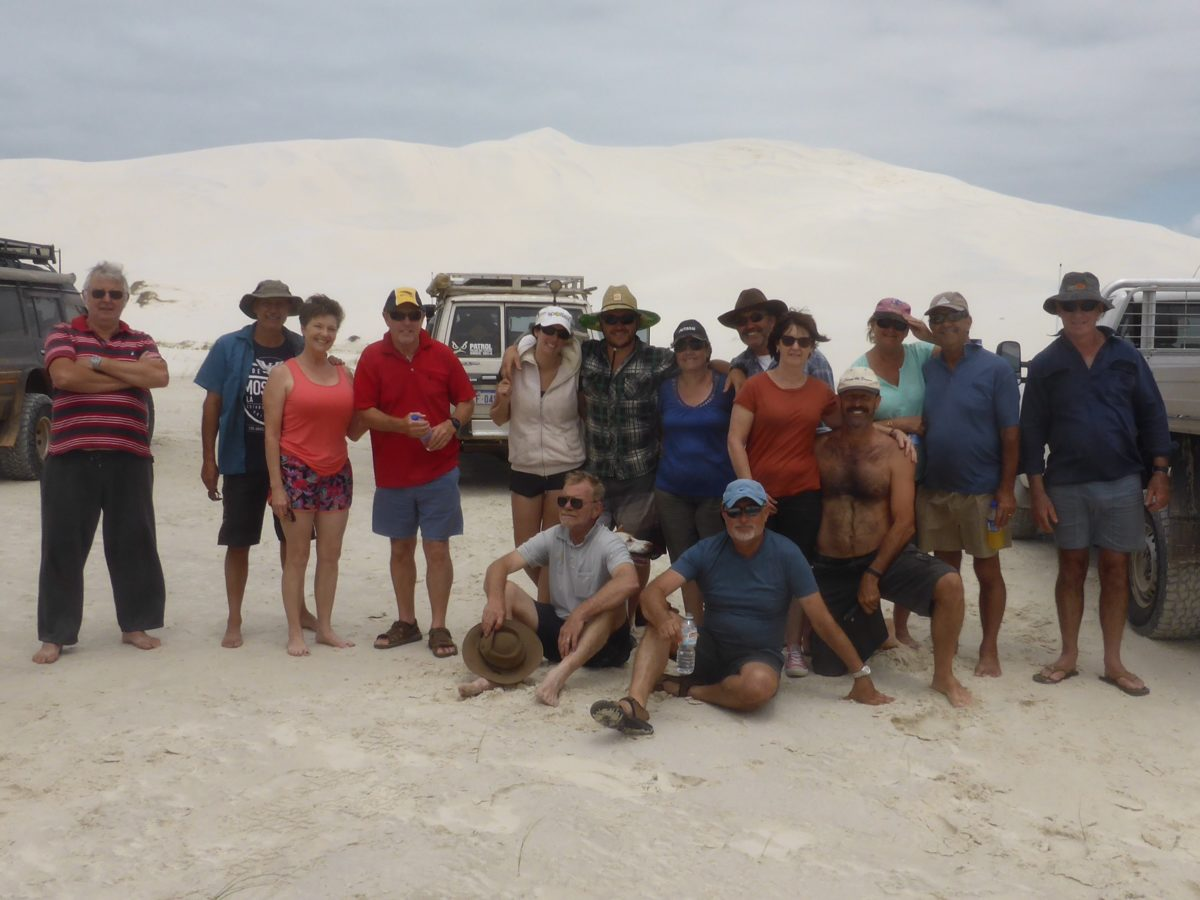 Group on Sand dune